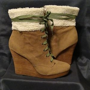 Restricted Wedge Booties